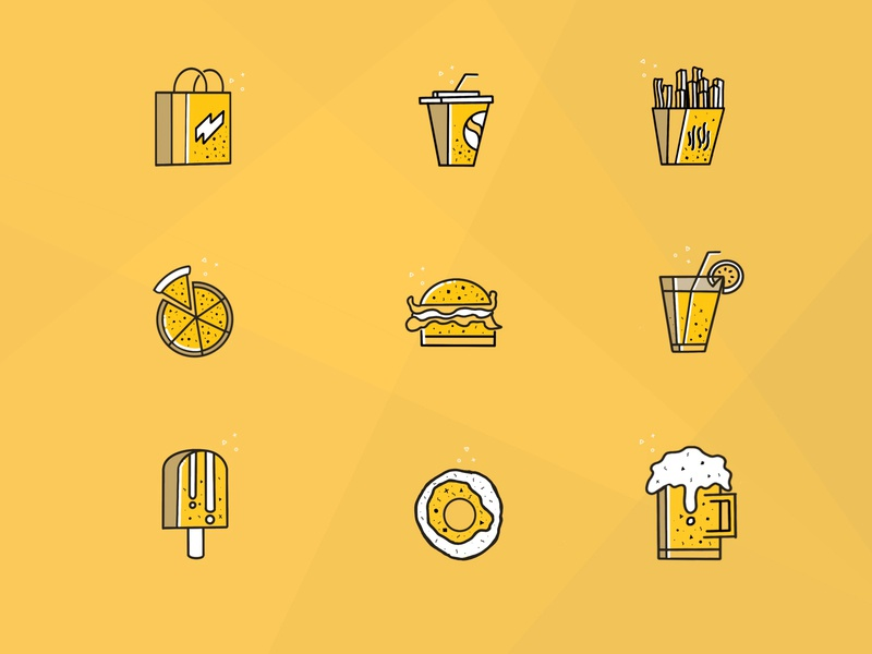 Food Icons application ios simple flat app mobile design vector food and drink dribbble iconography graphic webicons illustrations graphics ux ui flaticon foodapp food food icons