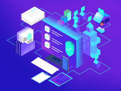 Isometric Illustration. branding uidesign webapp insurance claims heroheader graphics isometric illustration webpage productpage art illustration ux ui claimmanagement claimcolony