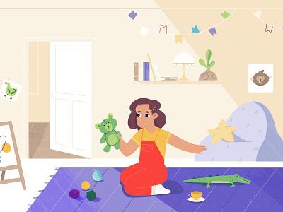 Pharma style frame babysit toys kids room kids girl home children child interior room pharma baby character