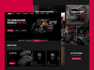 ATEQ TMPS Homepage webdesign design ux ui