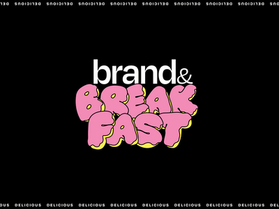 Brand&Breakfast - Logo vector illustration typography logo branding