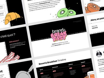 Brand&Breakfast - Slides vector design illustration branding