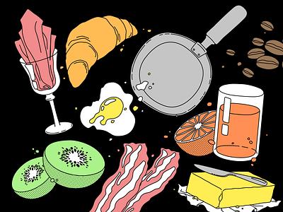Brand&Breakfast - Illustrations vector design branding illustration