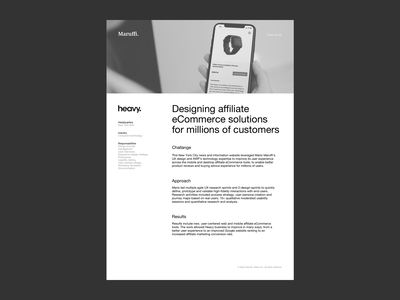 Heavy — eCommerce solutions for millions of customer case study portfolio product design lead freelance product design ecommerce mobile web user experience ui ux