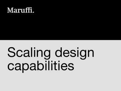 Scaling design capabilities user experience product design ux team work capabilities designops article case study