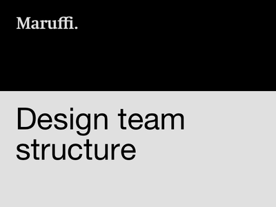 Design team structure ux design designers designops team structure design team