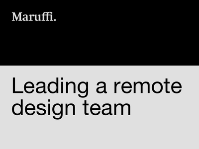 Leading a remote design team user experience design leading design team remote