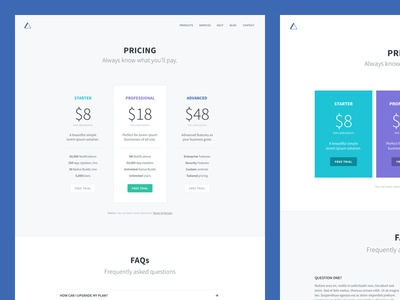 Pricing Pages webdesign website pricing table ui layout web divi wordpress clean