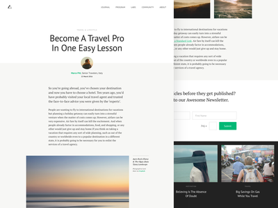 Article website unsplash editorial layout wordpress divi ui blog post article