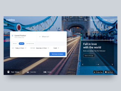 Search Train Tickets search train tickets web ux search homepage trainline ui tickets train