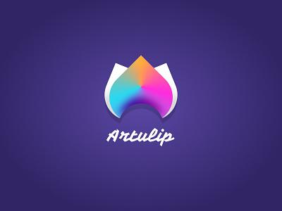 Artulip Logo Concept gradient fade vector icon design illustration ux ui figma logodesign logo