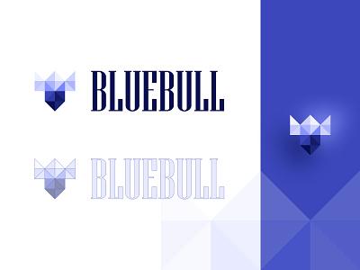 BLUEBULL LOGO uiux figma branding bull purple logo logotype logo design logodesign logo