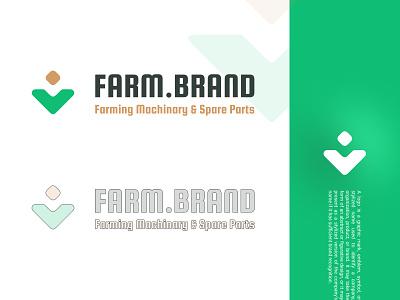 FARMBRAND LOGO simple design simple logo modern design modern logo green figma logodesign logotype logo farmer farming farm