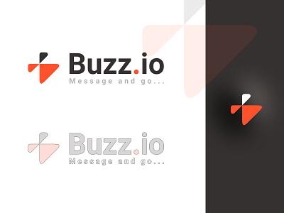 Messaging App Logo figma light dark lava orange bee fly buzz messenger app messaging message app