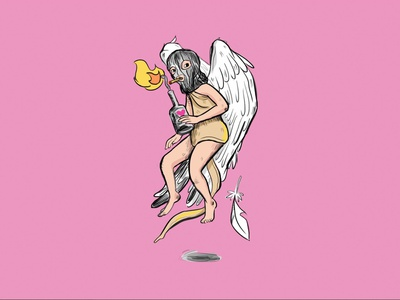 Happy Valentine's day terrorist photoshop funny character design cupid valentines