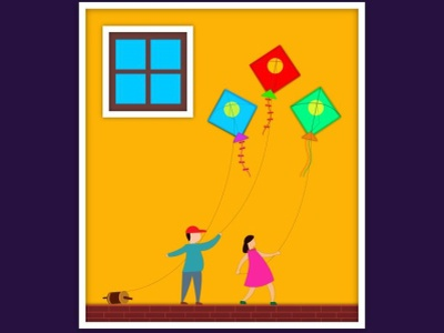 Wall Poster of Kites illustration graphic design illustrator graphic design graphic design