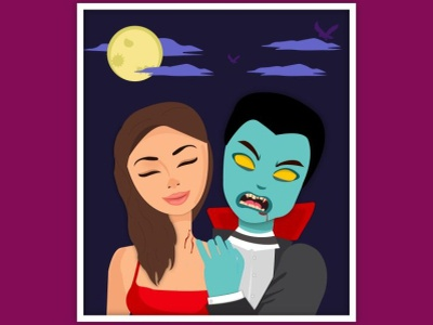 Vampire turned Zombie bite design graphic design logo illustration graphic design illustrator graphic graphic design graphic  design creativity