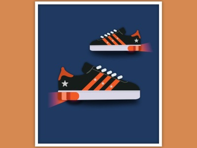 Flashing Light shoes graphic  design creativity illustration graphic design illustrator graphic graphic design