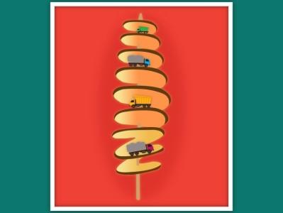 Potato chips Tornado Cliff graphic design logo illustration design graphic  design graphic graphic design illustrator graphic design creativity