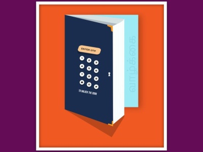 OTP to unlock Door design graphic  design creativity graphic design graphic illustration graphic design illustrator