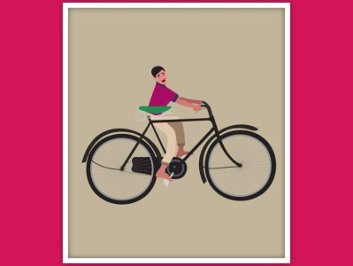 Monkey pedalling adventure design graphic  design creativity illustration graphic design illustrator graphic graphic design