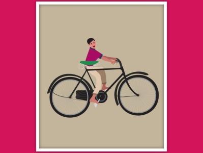 Monkey pedalling adventure design graphic  design creativity illustration graphic design illustrator graphic graphic design