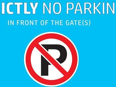 No Parking Flex Board