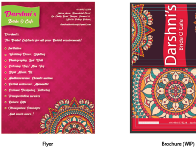 Flyer and Brochure (WIP) graphic design