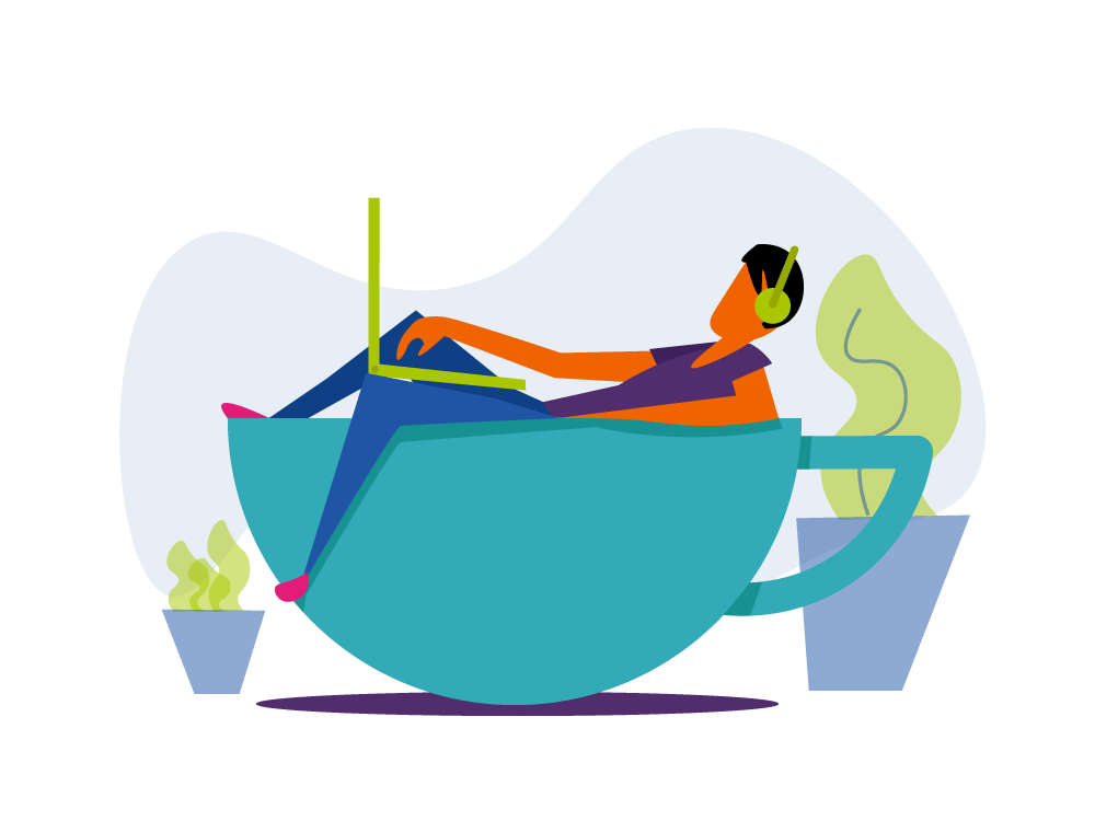 Java Developer   dti digital Illustration character identity clean art brand illustrator branding web minimal flat website vector ui illustration design