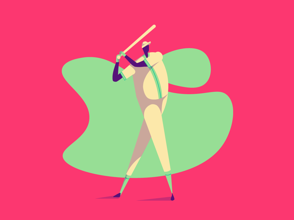 Batter ios mobile app website web vector ui minimal illustrator illustration flat design clean character art