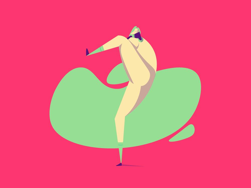 Pitcher mobile ios app website web vector ui minimal illustrator illustration flat design clean character art