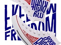 competition for FABStore shoe freedom print converse