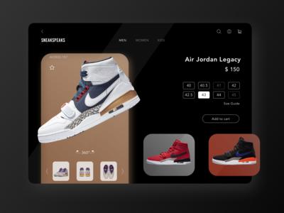 Sneaker Web Page