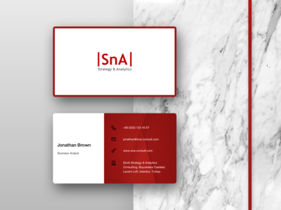 Horizontal Business Card Design