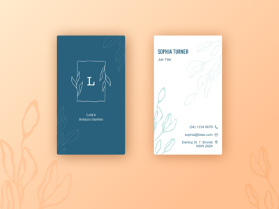 Botanic Garden Business Card Design