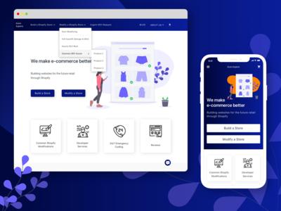 Ecom Experts Homepage Design