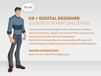 UX / Digital Designer Available!