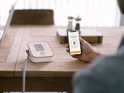 Amazon Private Brand - Blood Pressure Testing Kit render medical design medical app branding