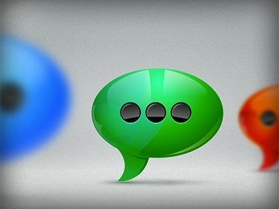Chat Clouds Status illustrator vector icon depth bubble
