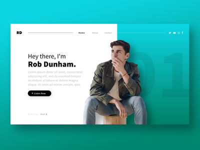 Podcast Host Landing Page