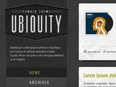Tumblr theme blog tumblr texture web design design oswald muncie helvetica neue 999900 333333 cccccc