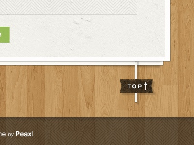 Back to top web design texture wood footer button top