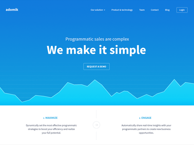 Website product homepage website ui user interface web design product datas analytic startup source sans pro