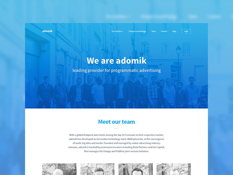 Adomik team dribbble
