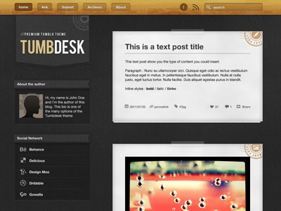 Tumbdesk preview