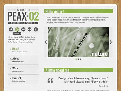 Peax02 (full) web design design wordpress texture wood paper
