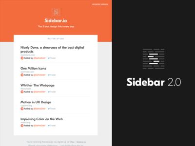 Sidebar 2.0 identity design newsletter