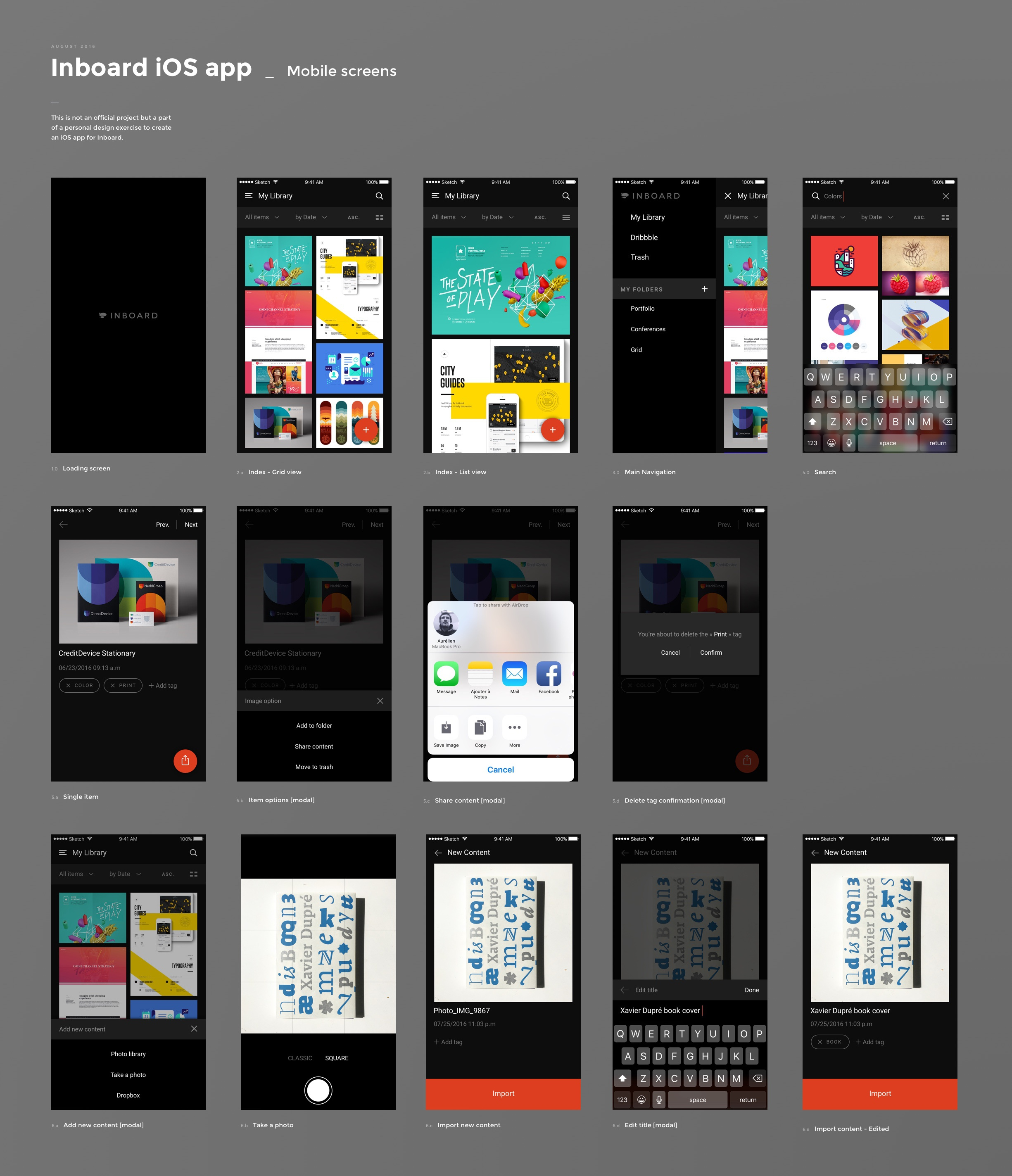 Inboard dribbble mobile screens