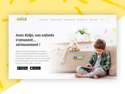 Kidjo app website redesign