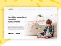 Kidjo app website redesign